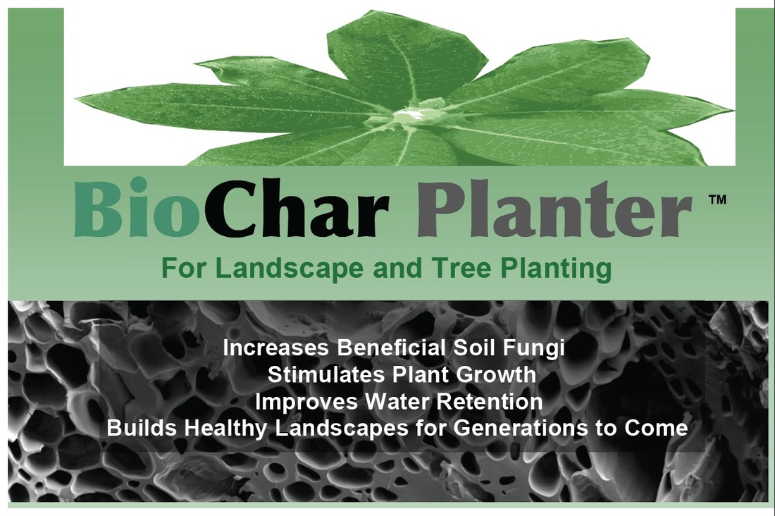 CharGrow Planter product label, for Lawns and Gardens