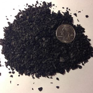 Bulk straight biochar particle size comparison