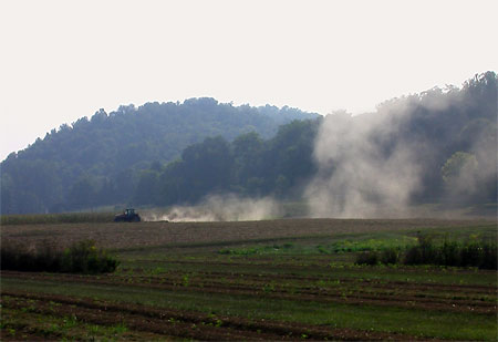 Drought conditions at Kentland Agricultural Research Farm